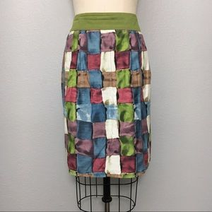Anthropologie ipsa stained glass cubes skirt 6